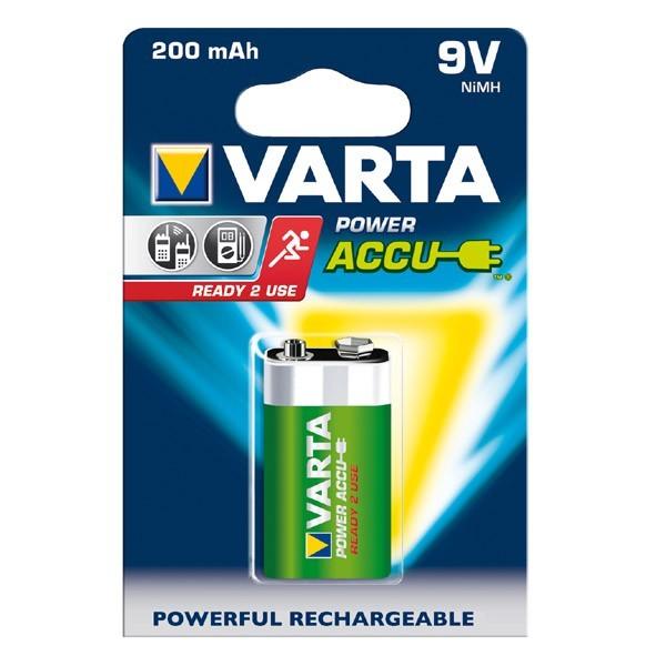 Varta Battery Power Accu 9V E-Blok Ready 2 use NiMH 200mAh 56.722