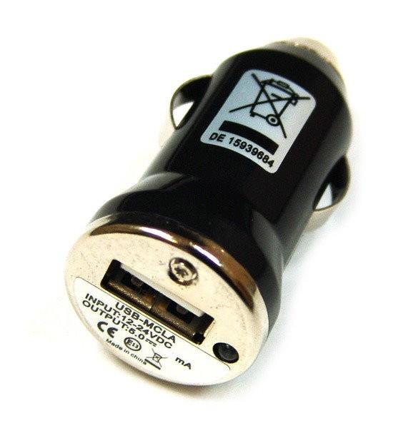 USB Tiny Autolader Zwart Huawei Ascend D1 Quad XL