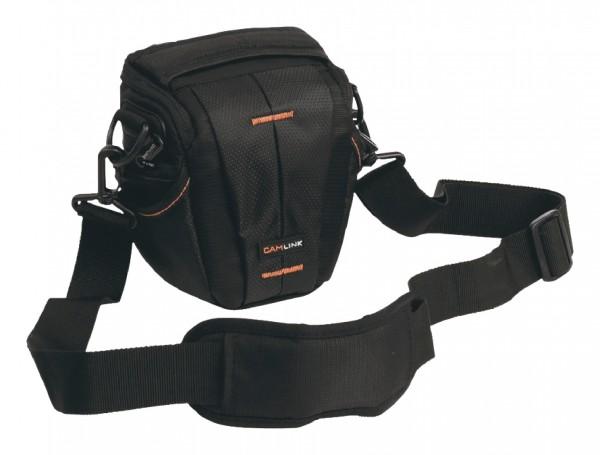 Camera Holster Tas Zwart/Oranje voor Nikon D3400